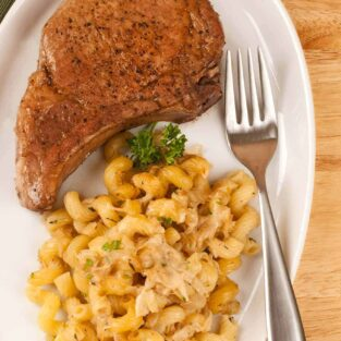 Pan-Seared Pork Rib Chops