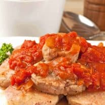 Pan-Seared Pork with Tomato-Orange Sauce