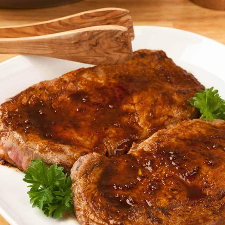Pan-Seared Rib-Eye Steaks with Smoked Paprika Rub