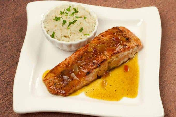 Pan-Seared Salmon With Orange-Curry Sauce