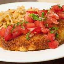 Parmesan-Panko Chicken with Tomato-Basil Relish