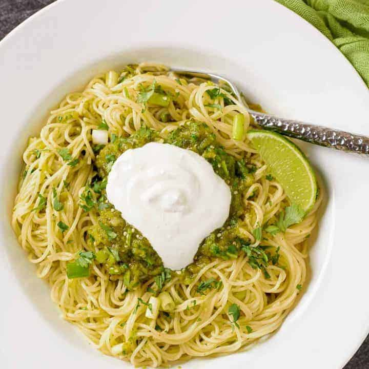 Pasta with Green Sauce