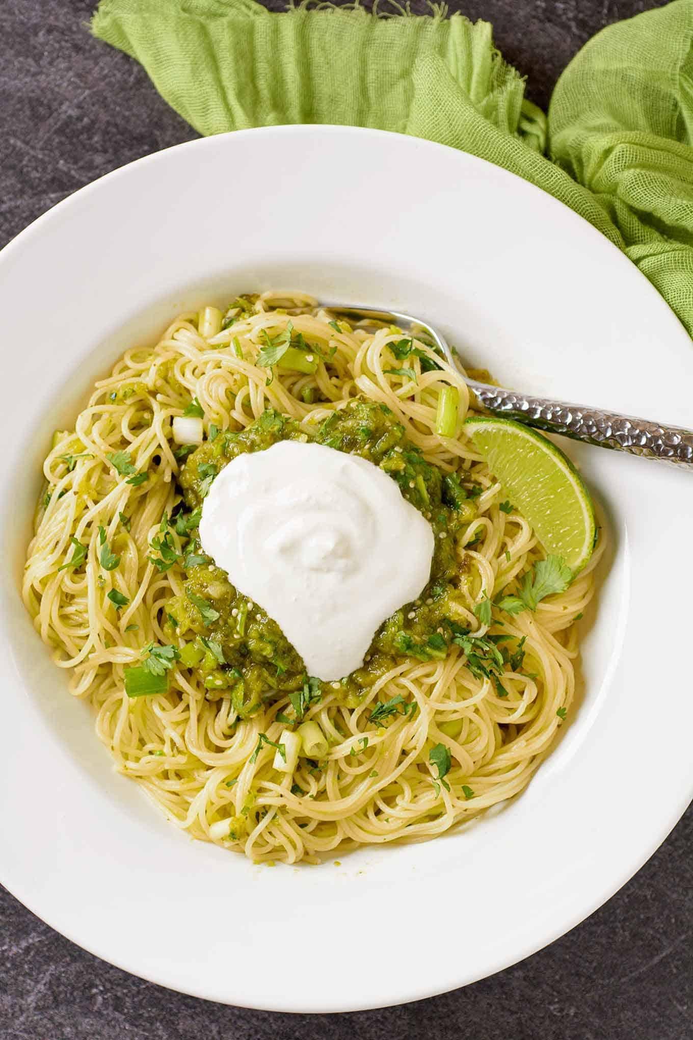 Pasta with Green Sauce - Salsa Verde