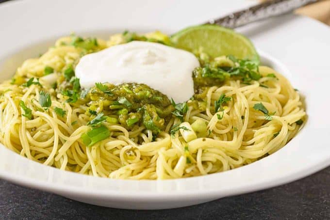 Angel Hair with Salsa Verde