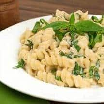 Pasta with Lemon-Basil Ricotta Sauce
