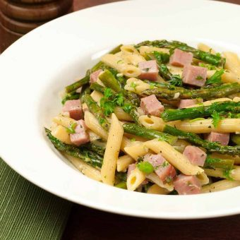 Pasta Primavera with Asparagus and Ham