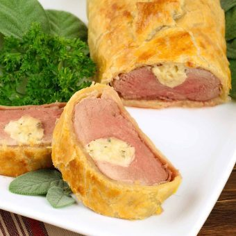 Pastry-Wrapped Pork With Brandy-Cider Reduction