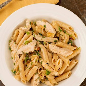 Penne with Chicken and Sage Brown Butter