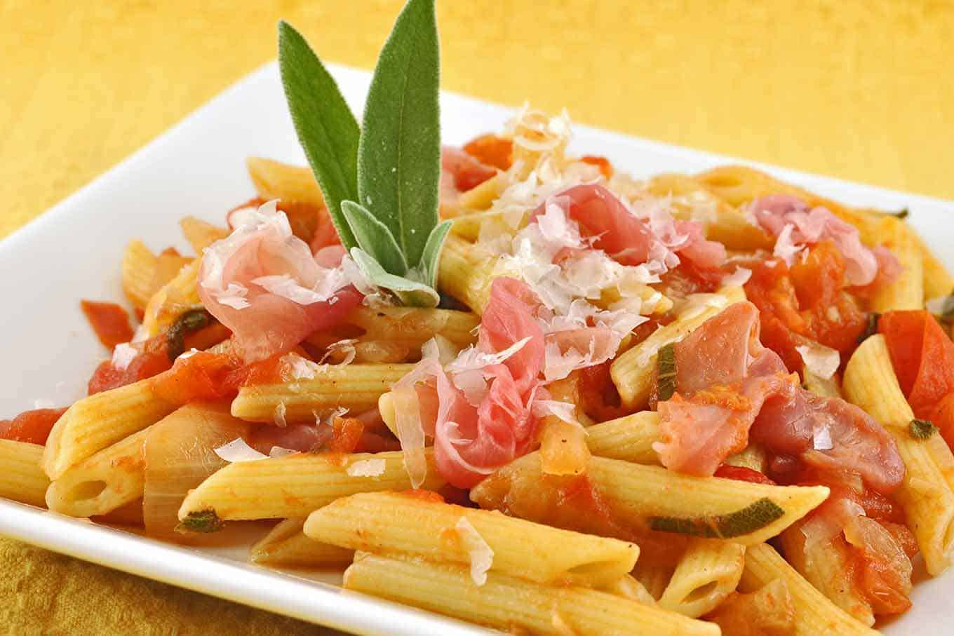 Penne with Tomato-Sage Sauce and Prosciutto ...