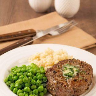 Peppercorn Crusted Filet Mignon - Steak au Poivre