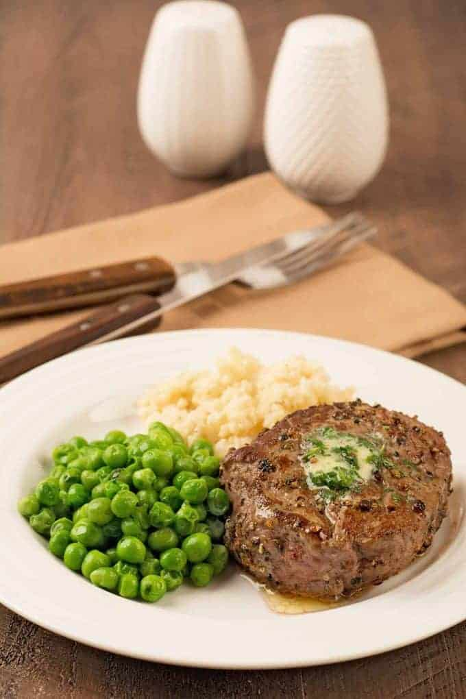 Peppercorn Crusted Filet Mignon - Steak au Poivre