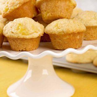 Pineapple Lemon Mini Muffins