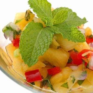Pineapple-Mint Salsa