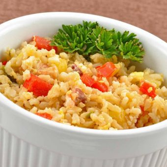 Polynesian-Style Fried Brown Rice