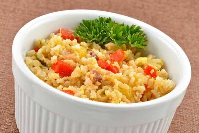 Polynesian style fried brown rice recipe mygourmetconnection polynesian style fried brown rice forumfinder Choice Image