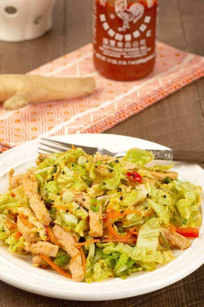 Spicy Pork and Napa Cabbage Salad