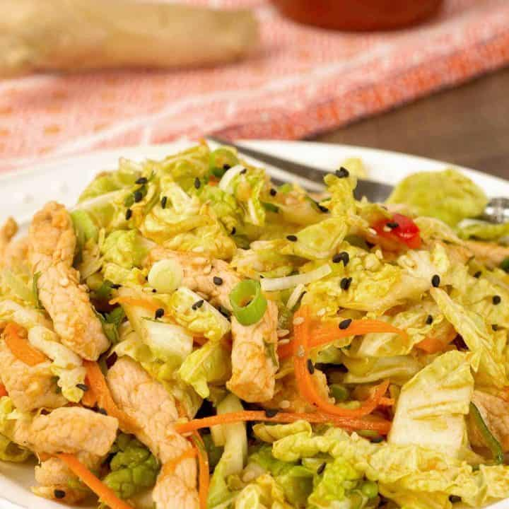 Pork and Napa Cabbage Salad Recipe
