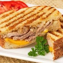 Pork, Peach and White Cheddar Panini