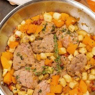 Pork and Squash Skillet Dinner