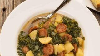 Portuguese Kale Soup - Caldo Verde