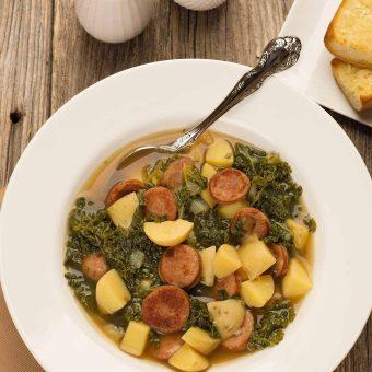 Portuguese Kale Soup – Caldo Verde