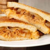 Pulled Chicken and Gouda Grilled Cheese
