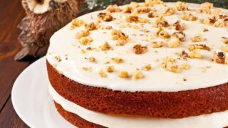 Pumpkin Spice Cake with Orange Cream Cheese Frosting