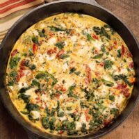 Quinoa and Goat Cheese Frittata