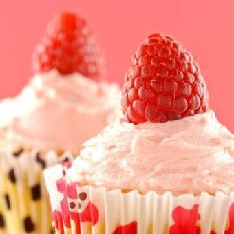 Raspberry-White Chocolate Cupcakes