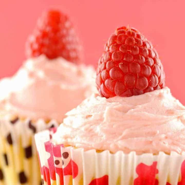 Raspberry-White Chocolate Cupcakes
