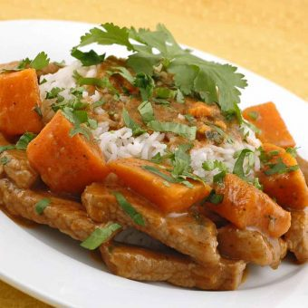 Red Curry Pork with Sweet Potatoes