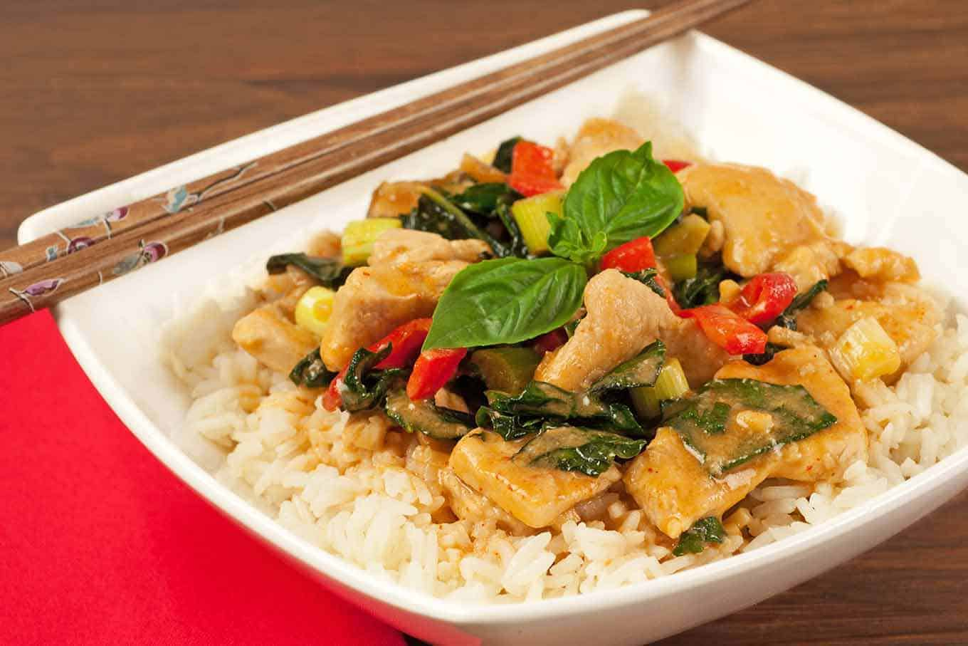 Red Curry with Turkey and Kale