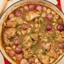 Red Wine Braised Chicken Thighs
