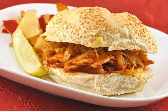 Roast Pork Sandwiches with Warm Apple-Onion Slaw