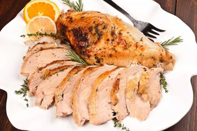 Roasted Turkey Breast with Citrus Herb Butter
