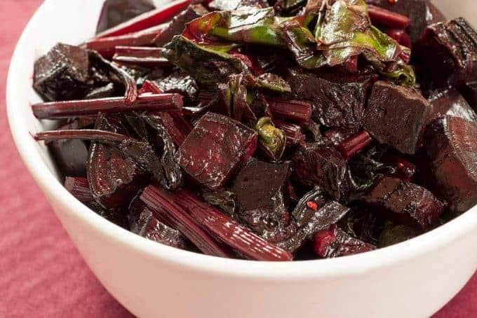 Roasted Beets with Sautéed Greens