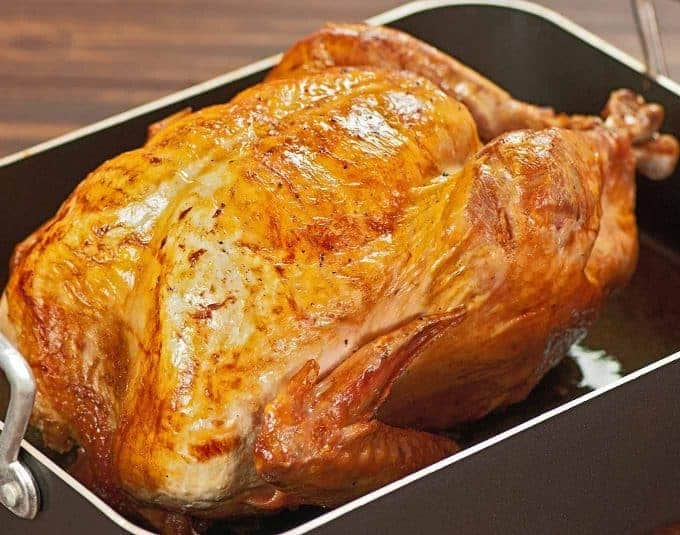 Roasted Brined Turkey with Pan Gravy