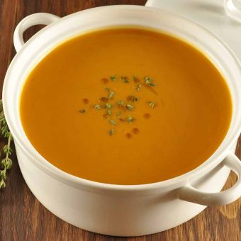 Roasted Butternut Squash and Chestnut Soup