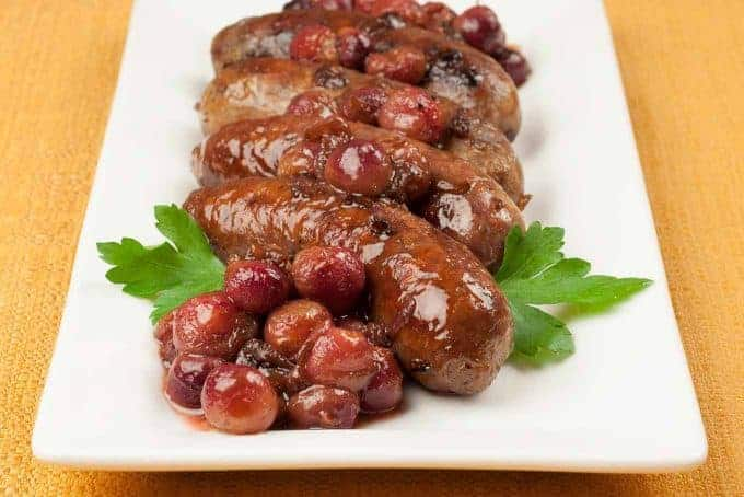 Roasted Chicken Sausage and Grapes