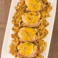 Roasted Chicken Thighs with Caramelized Fennel and Orange