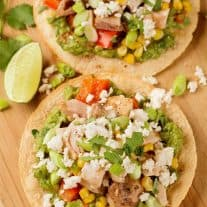 Roasted Chicken Tostadas