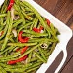 Roasted Green Bean, Pepper and Shallot Salad
