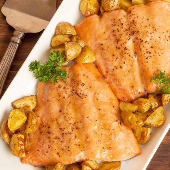 Roasted Honey-Mustard Salmon
