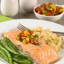 Roasted Salmon with Fresh Orange Salsa