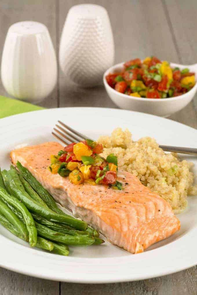 Roasted Salmon with Fresh Orange Salsa