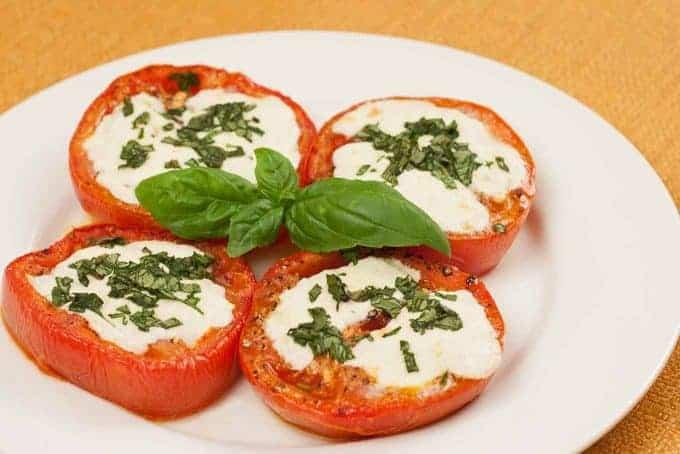 Roasted Tomatoes Caprese