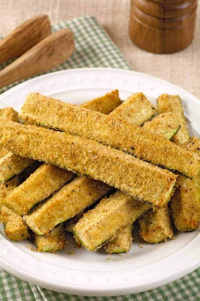 Roasted Zucchini with Seasoned Crumb Topping
