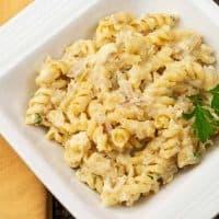 Rotini with Cauliflower-Blue Cheese Sauce