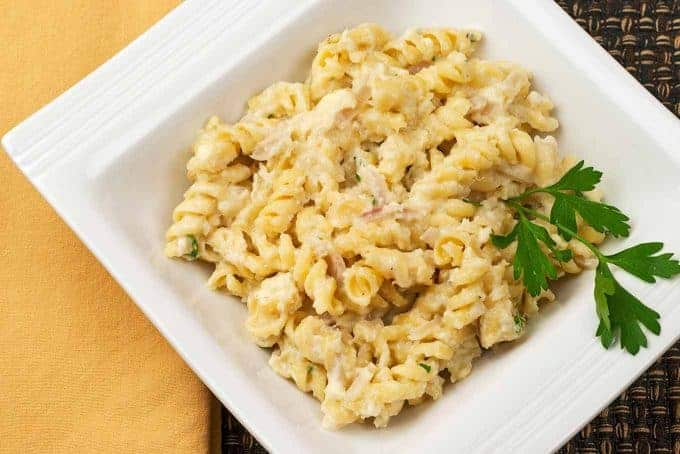 Rotini with Cauliflower-Blue Cheese Sauce