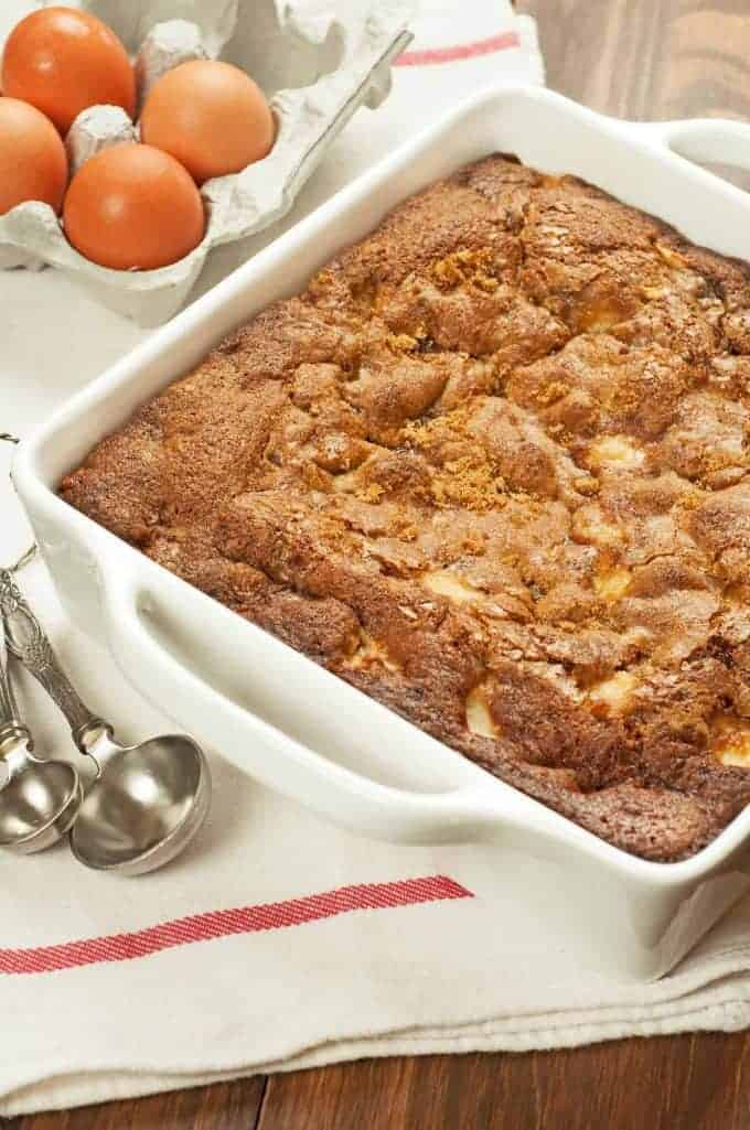 Rum-Spiced Apple Pudding Cake